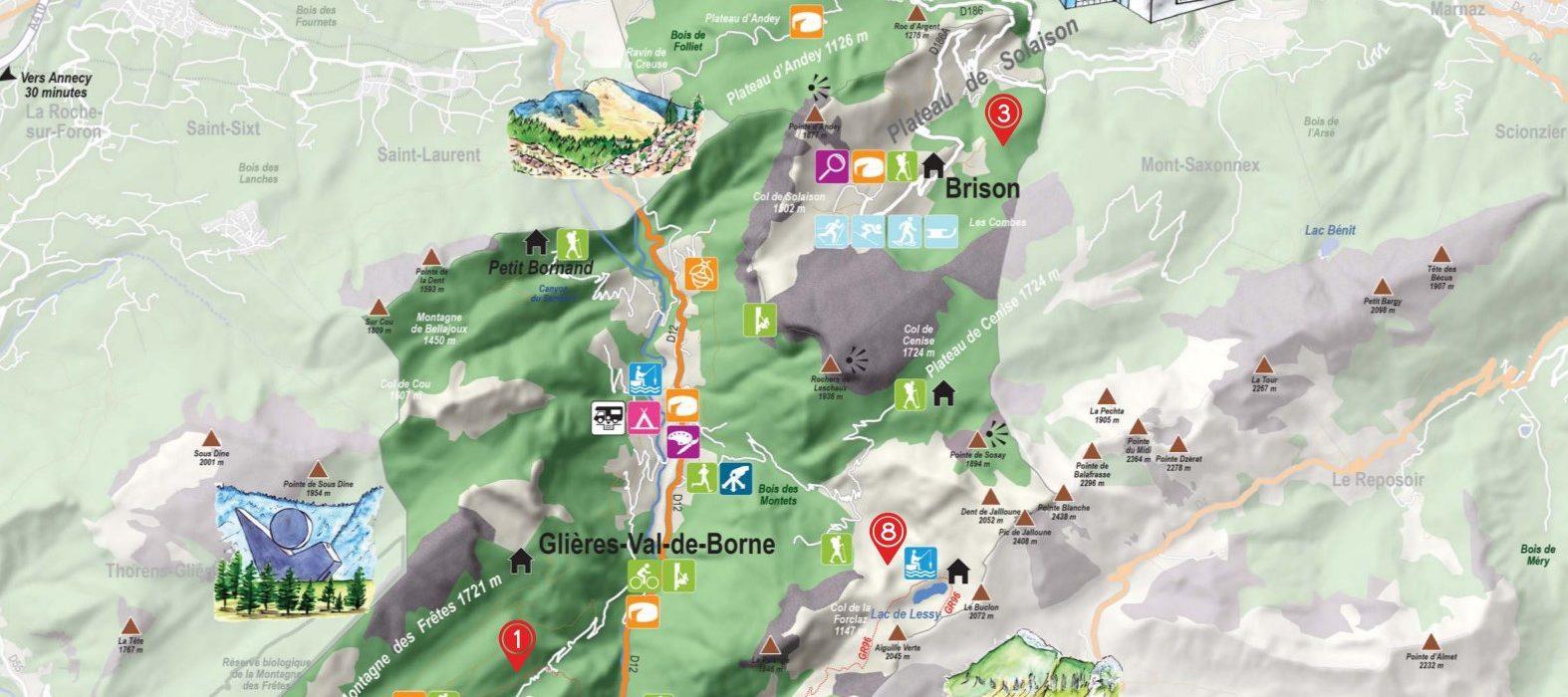 Carte Touristique Faucigny Glières 2019 2020