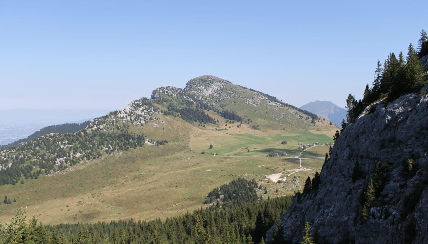 la pointe d'Andey depuis les Rochers de Leschaux