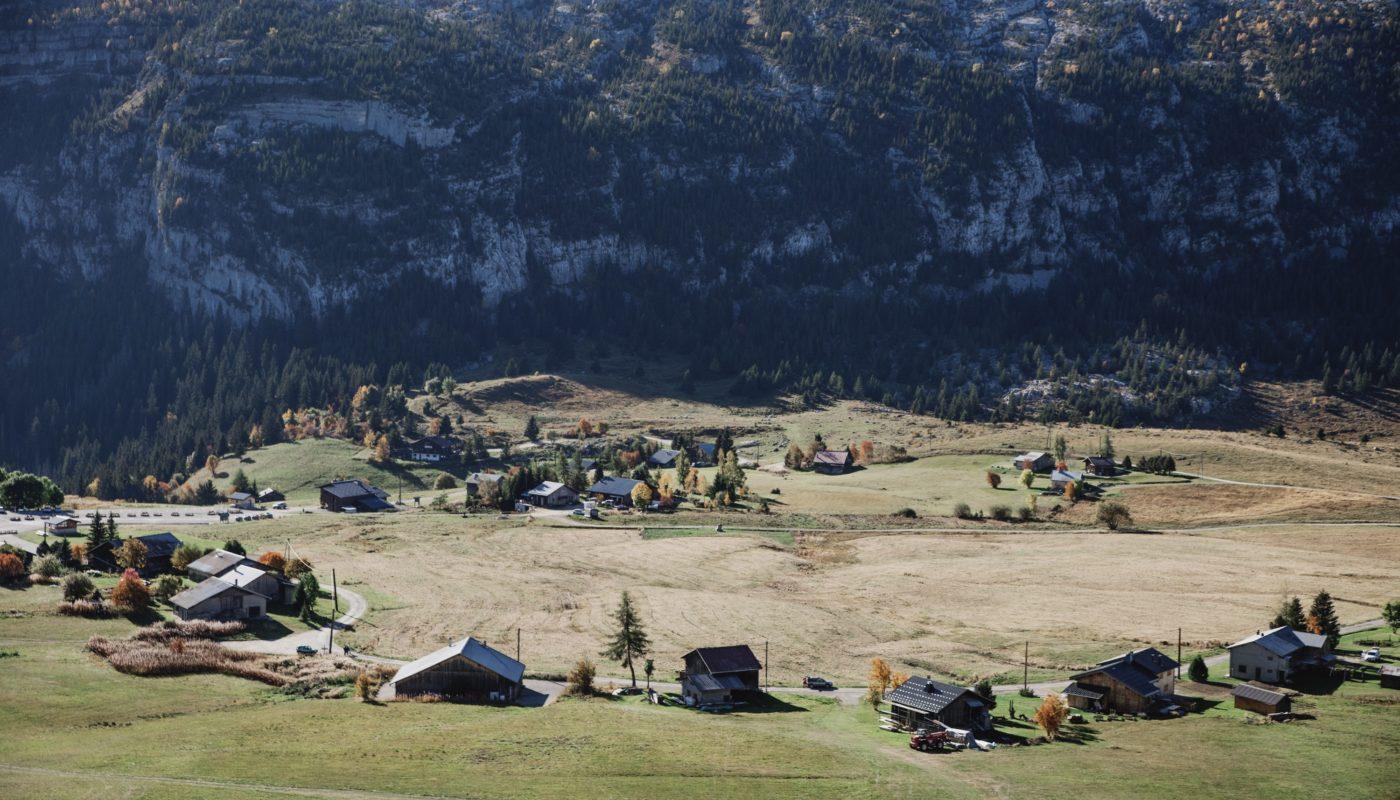 Le plateau de Solaison depuis la pointe d'Andey