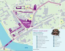 plan du parcours culturel de Bonneville