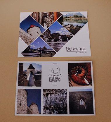 Carte postales Bonneville et château des Sires de Faucigny